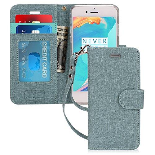 fyy iPhone 7Fall, iPhone 8Schutzhülle, [Ständer Funktion] Flip Folio Leder Wallet Tasche mit ID und Kreditkarte Taschen für Apple iPhone 8/7(11,9cm), AC-Green