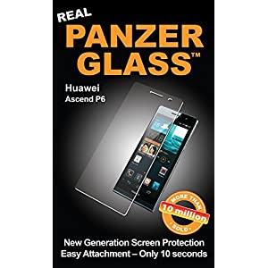 PanzerGlass Protective Anti Scratch Fluid Resistant Glass Screen Protector Shield for Huawei Ascend P6,PG1120