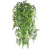 L&Z Künstliche Ivy Vine 5 Stücke Künstliche Aufhängen Vine Pflanzen Gefälschte Kunststoff Grün Ivy Garland für Hochzeit Wand Im Freien Hängen Pflanzer Zaun Spalier