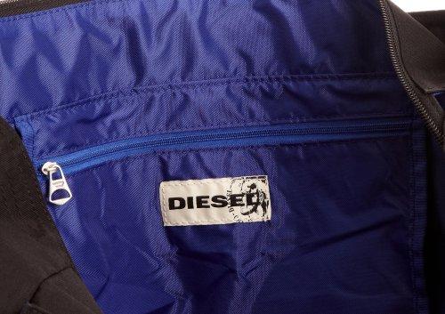 Diesel Outside Track Vos Shoulder Bag, Sac bandoulière hommes Noir/argent