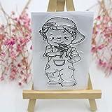 ECMQS Cute Boy DIY Transparente Briefmarke, Silikon Stempel Set, Clear Stamps, Schneiden Schablonen, Bastelei Scrapbooking-Werkzeug