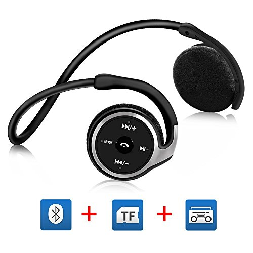Cuffie bluetooth running per correre, auricolari running bluetooth on ear con hd microfono, supporto tf card e fm radio,sweatproof ipx 4,tempo di gioco: 6 ore,per sport,fitness