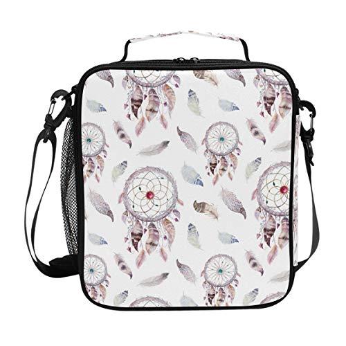 CPYang - Bolsa térmica para el almuerzo con correa para el hombro, diseño bohemio atrapasueños