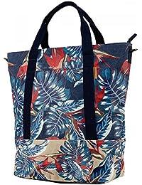 Barts-Bolsa de tela, algodón, diseño estampado, color azul, 40 x 22 cm, diseño de adolescentes y Barts mujer