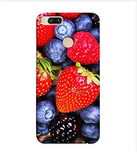 OBOkart Strawberry design 3D Hard Polycarbonate (Plastic) Designer Back Case Cover for Xiaomi Mi A1