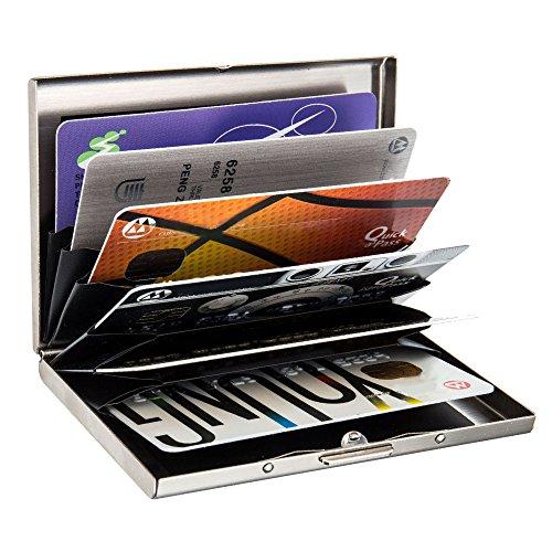 Kleine Praktische Ausweis-und Kreditkartenetui Kartenmappe Karte Geldbeutel Mit 24Kartenfächer Schwarz und Rot Test