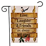 Garden Flag, BZLine® Garten-Flagge Indoor Outdoor Home Decor Buchstaben Blumen Flagge (B)