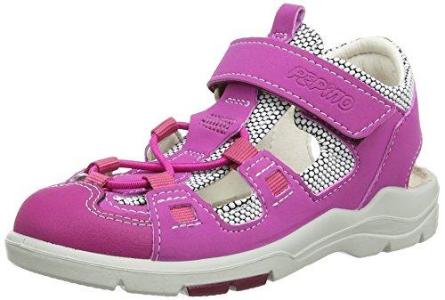 Ricosta Georgie, Sandales à talon fille Pink (Candy/Weiss 326)