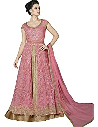 Style New Look Pretty In This Pretty Pink Colored Designer Floor Length Suit