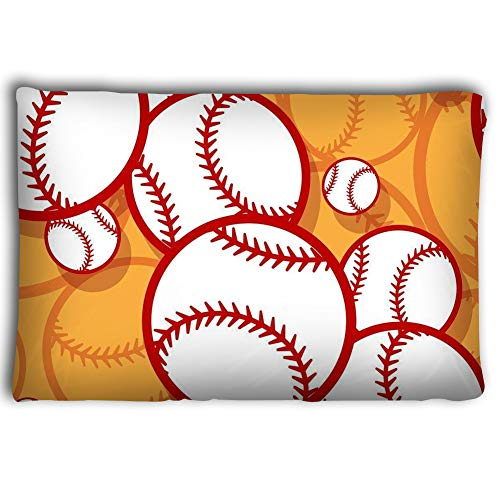 Zhangshpoing Pillow Cases Seamless Pattern Baseball Softball Ball Graphics Seamless Pattern Baseball Softball Ball Graphics Vector Illustration 20 * 30inch -