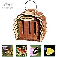 Gardigo Hôtel pour papillon | maison, abri à coccinelle abeilles et pour plusieurs insectes | en bois naturel | facile à suspendre - Idée cadeau Noël