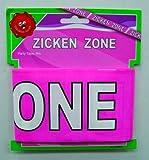 Erfurth Absperrband Zickenzone JGA Party-Deko rosa-Weiss 600x7,5cm Einheitsgröße