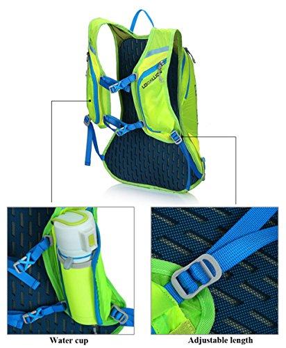 Weat Biking 15L unisex impermeabile bicicletta Ciclismo Zaino per escursionismo e campeggio viaggio zaino zaino borsa, Ragazzo unisex adulto Ragazza uomo Donna, nero/rosso Blue yellow