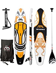 Aqua Marina Magma Sup Inflatable Stand Up Paddle Surf Board Remo Board, Board+Sport Paddle