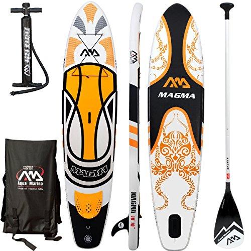 Aqua Marina Magma SUP Inflatable Stand Up Paddle Surfboard Paddle Board, Board+Sport Paddle