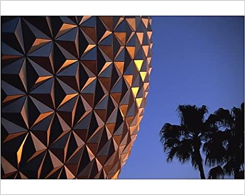 Photographic Print of Spaceship Earth, Epcot, Disney, Orlando, Florida, United