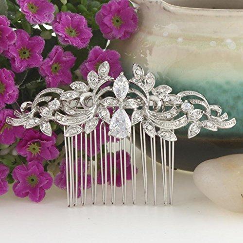 EVER FAITH® CZ österreichischen Kristall kunstvolles Vintage Style Muster Hochzeit Haarkamm Haarschmuck -