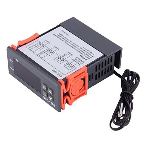Digitaler Temperatur Controller LESHP LCD Display 220V Temperaturregler Thermostat NTC Sensor für Aquarium, Terrarien, Vivarien, Brutschränke und Paludarien /-50°C - 90 °C einstellbar