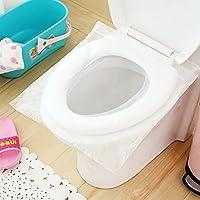 FAVOLOOK 50 fundas de papel higiénico desechables impermeables para asiento de inodoro, protectores de orinal para camping, viajes, baño, etc.