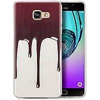 Coque Samsung Galaxy A5 (2016) Coque de Protection en Silicone Case [zanasta] Ultra Mince Premium Soft Flexible TPU Gel Cover Housse Etui Chocolat