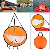 ROKOO Kayak Boat Wind Sail Canoe Sup Paddle Board Vela con ventana clara Fishing...