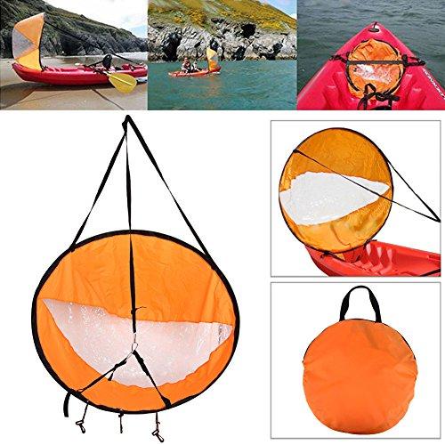 Proglam Kajak Boot Windsegel Kanu Sup Paddel Board Segel mit klarem Fenster Angeln Rudern Boot Aufblasbar Außenbord-Treiben Orange