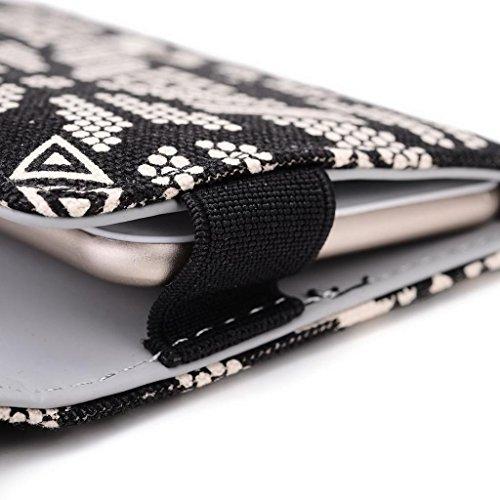 Kroo Pochette universel Femme Portefeuille Portable Pochette compatible avec Huawei Ascend P7/G620S Multicolore - bleu Multicolore - noir