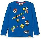 Nintendo Super Mario Bros 161543 T-Shirt, Blu (Bleu), 6 Anni (Taglia Produttore: 6 Anno) Bambino