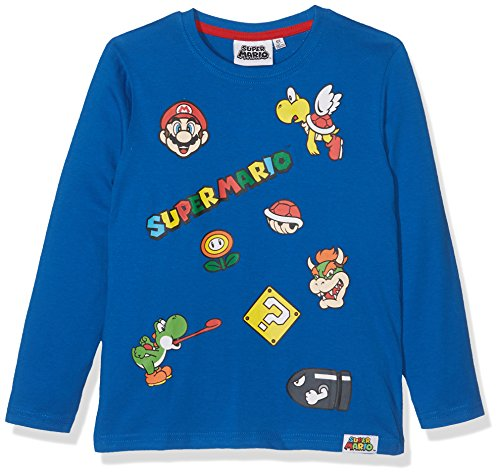 Super Mario Bros Chicos Camiseta mangas largas - Azul - 116