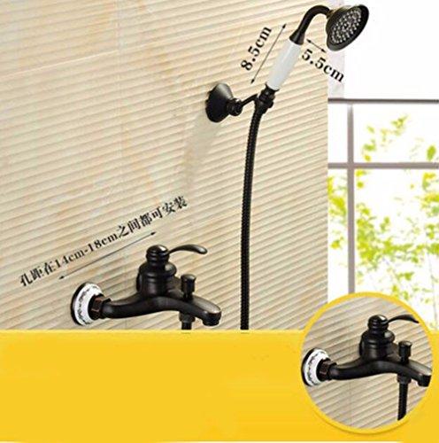 SADASD Bagno moderno completo di rubinetto ottone vasca da bagno Doccia tripla vasca lavello rubinetto miscelatore valvola ceramica unico foro