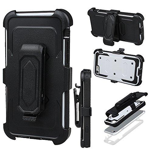 """xhorizon FM8 Eingebaut Schützender Stoßdämpfer Heavy Duty Schutz Schockreduzierung/Stoßstang Case für Apple iPhone 7 [4.7""""] (Blau) Weiß"""