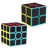 Die besten Rubiks Würfel - LVHERO 2 Stück Kohlefaser Zauberwürfel, 2x2 and 3x3 Bewertungen