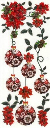 dpr. Fensterbild Kugelgehänge Christbaumkugeln Weihnachtsstern Weihnachten Advent Fenstersticker Fensterdeko