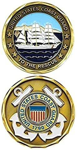 Challenge Coin - Piece de mérite US militaire Gardes cotes Médaille decoration US Coast Guard