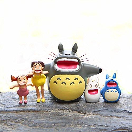 Hayao Miyazaki Totoro Satsuki Mei Classic noche rezando figura de acción de la serie gritar DIY muñeca de paisajismo 5pcs/lot