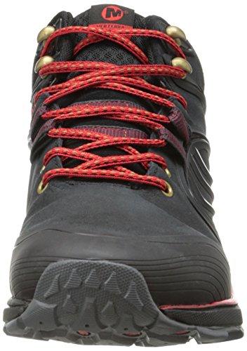 Merrell Verterra Mid Waterproof, Chaussures de randonnée montantes homme Noir (Black Red)