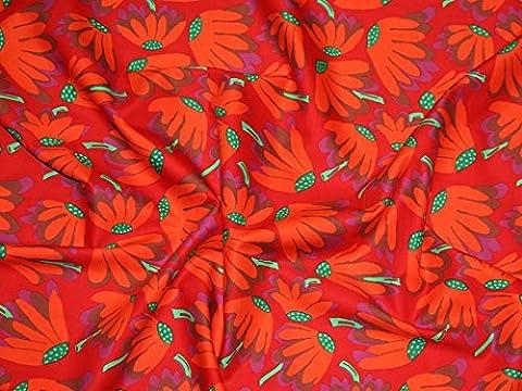 Rowan Brandon Mably (begriffsklärung) Fall 2014Lazy Daisy Popeline Quilting Stoff, Meterware, Rot + Frei Minerva Crafts Craft Guide
