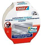 tesa Anti-Rutschband, sehr rauh und strapazierfähig, transparent, 5m x 25mm