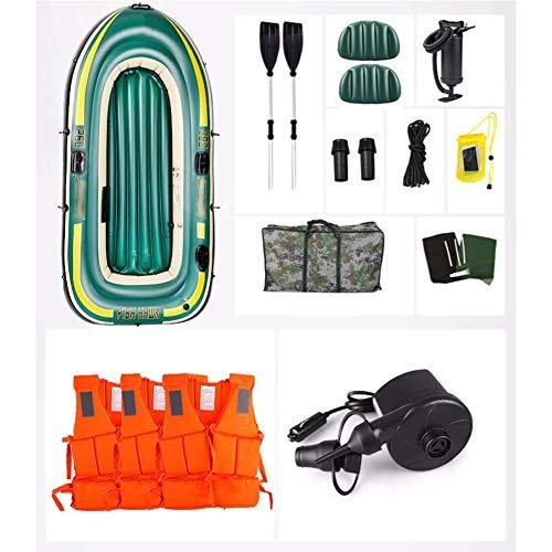 Roy&Rey Schlauchboot Raft Inflator Set mit Rudern und Hochleistungsluftpumpe zum Angeln, Treiben, Tauchen (Size : 3 Senior Models)