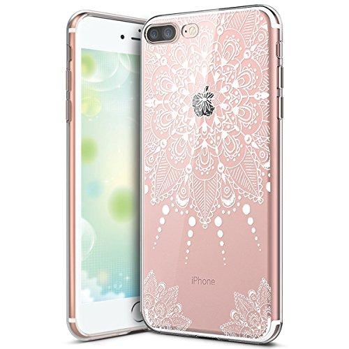 Hülle für iPhone 6 6S,iPhone 6 6S Silikon Schutzhülle,KunyFond [Liquid Crystal] Mandala Malerei Muster TPU Silikon Hülle Transparent Kristallklar Schutzhülle [Ultra Dünn] Klar Weiche Silikon Crystal K Mandala#2