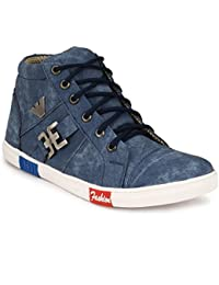 Trendy, Blue Mens Shoes Unique Design And Lace Up Style: Walk With Trendy And Stylish Blue Casual Shoes(Aerobic...