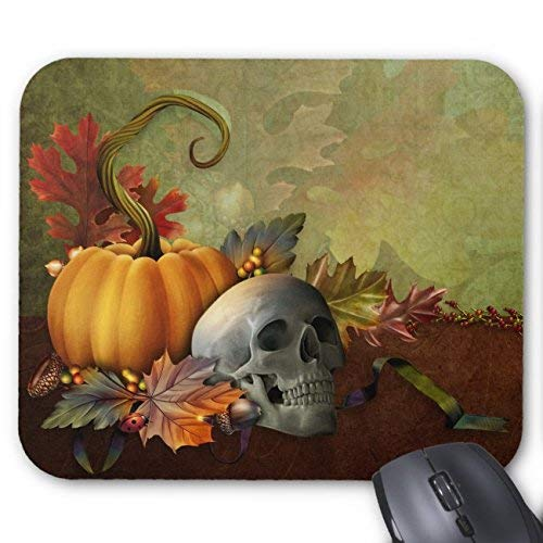 Halloween Skull Mouse Pad Rectangle Non-Slip Rubber Personalized Mousepad Gaming Mouse Pads