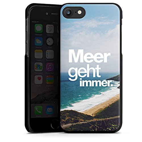 Apple iPhone X Silikon Hülle Case Schutzhülle Meer Sommer Sprüche Hard Case schwarz