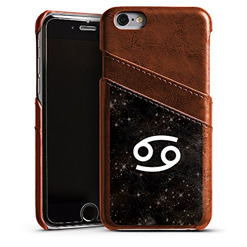 Apple iPhone 4 Housse Étui Silicone Coque Protection Signes du zodiaque Crabe Astrologie Étui en cuir marron