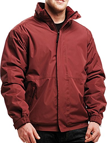 Neue Regatta Herren Jacke Dover Polyester, winddicht, für den Winter, Herren Outerwear, - Classic Red/Navy