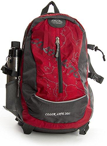 Big Handbag Shop Facile da viaggio zaino ltext Nero (nero)