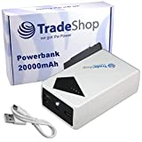 20000mAh Powerbank Reserve Akku Zusatz Akku Ladegerät Lader Micro-USB Mini-USB für Emporia emporiaSMART Telme T200 Medion Life E4005 E4503 E5001 X6001 X5004 X5020 Fairphone Fairphone 2 Geemarc CL8450 Gigaset Sloan L Gionee Elife S7
