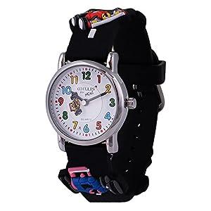 """Kinder-Armbanduhr für Jungen, Mädchen, Kleinkinder, wasserdicht, ideal zum Erlernen der Uhrzeit, """"Meine erste Armbanduhr"""", 3D-Lernuhr mit niedlichem Cartoon, Quarz-Uhrwerk, aus Silikon"""