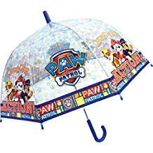 Chanos Chanos Paw Patrol Manual Dome Shape PoE Transparent Folding Umbrella, 48 cm, Blue