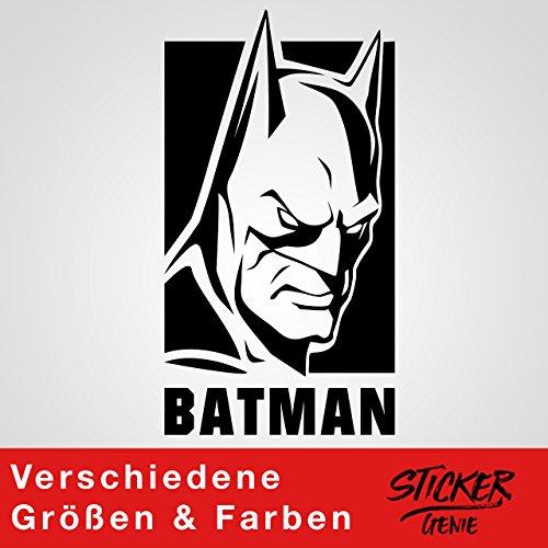 Batman Wandtattoo Sticker Aufkleber Dark Knight Gotham Arkham Logo Autoaufkleber (16,2 (B) x 30 (H) cm, Schwarz)